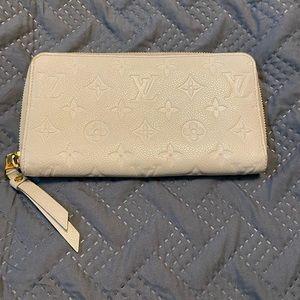 Louis Vuitton zippy monogram empreinte wallet